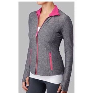 Lululemon Define Jacket Gray / Señorita Pink